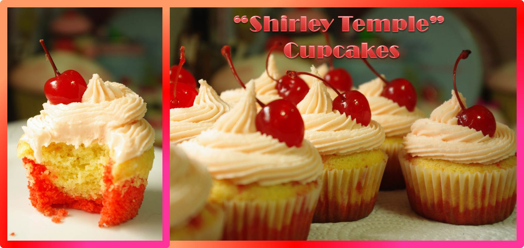 """Gluten-Free Shirley Temple Cupcakes """"Beater Test"""""""