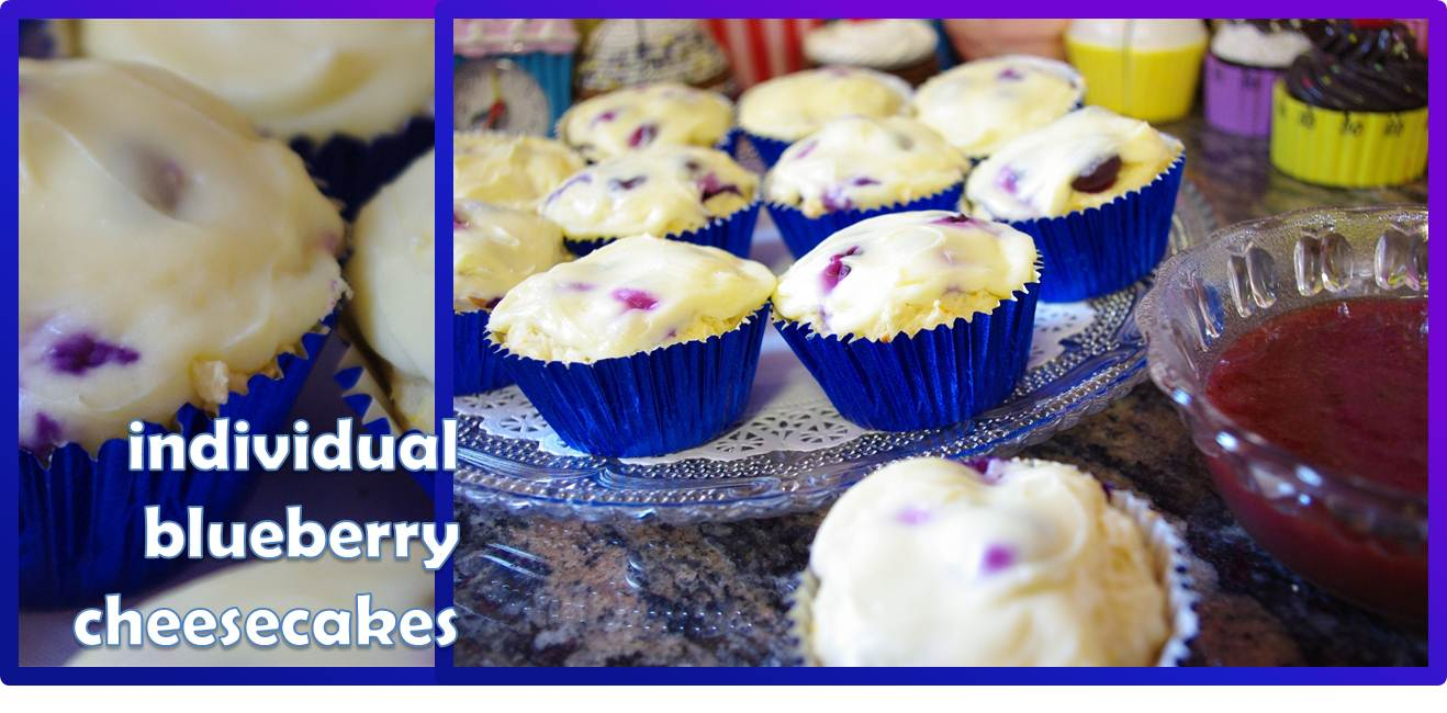 """Individual Blueberry Cheesecakes """"Beater Test"""""""