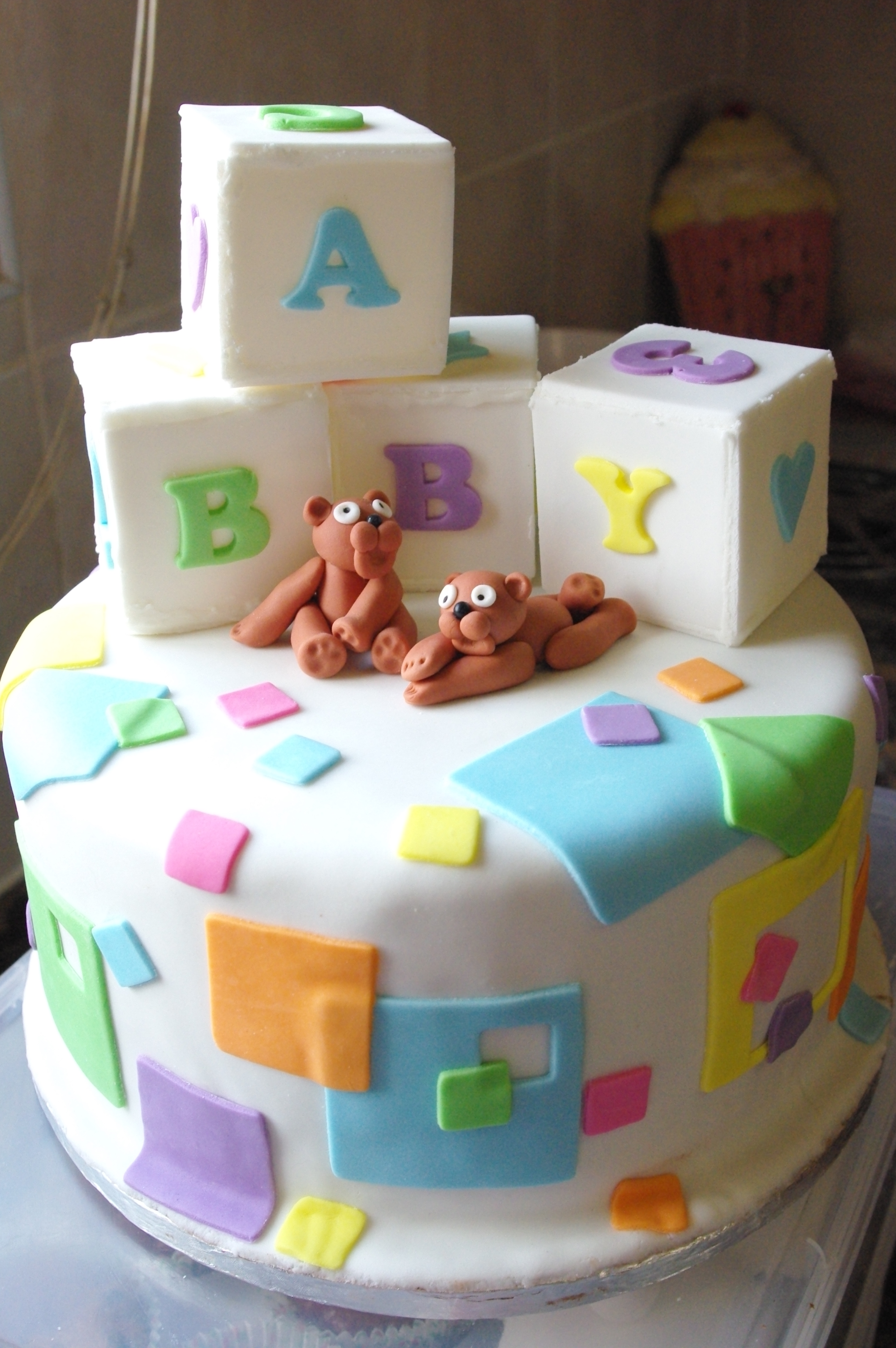 baby shower chocolate cake sugar paste decorations & November 2011
