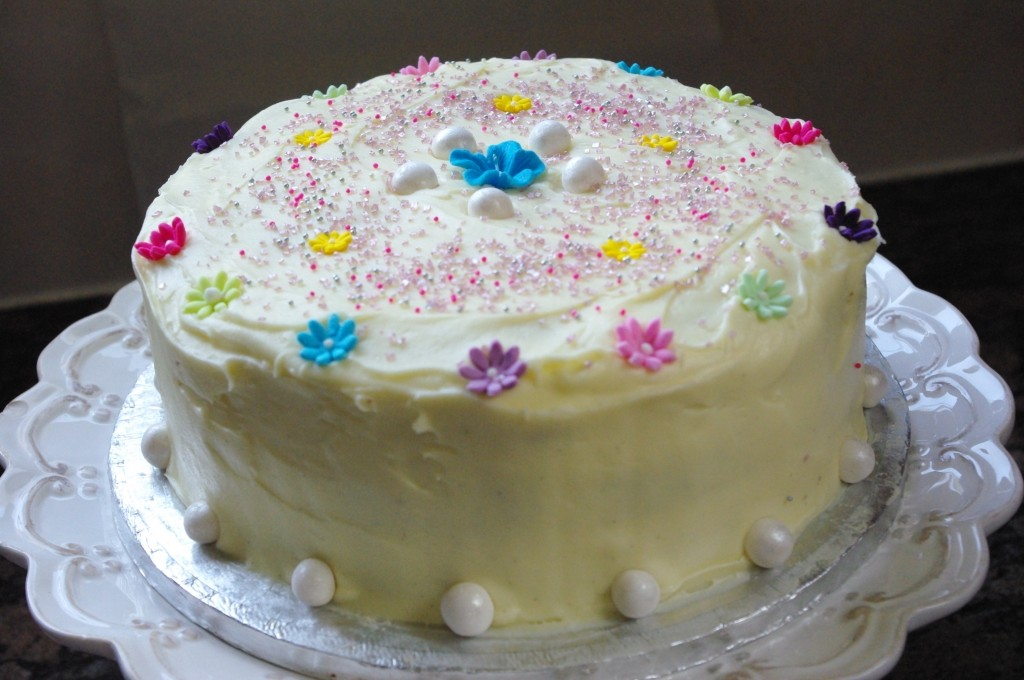 purple velvet cake, cream cheese icing