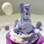 Cake artist, sugar artist, Vorna Valley, Midrand. hand made bunny with a balloon, custom sugar art