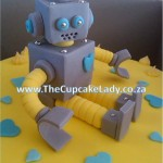 Cake artist, sugar artist, Vorna Valley, Midrand. Hand made sugar paste robot cake topper