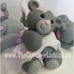 Cake artist, sugar artist, Vorna Valley, Midrand. hand made sugar paste bear, blanky