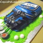 Cake artist, sugar artist, Vorna Valley, Midrand. 3D sculpted golf bag cake