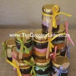 Cake artist, sugar artist, Vorna Valley, Midrand. cupcake-in-a-jar, chocolate and vanilla mix
